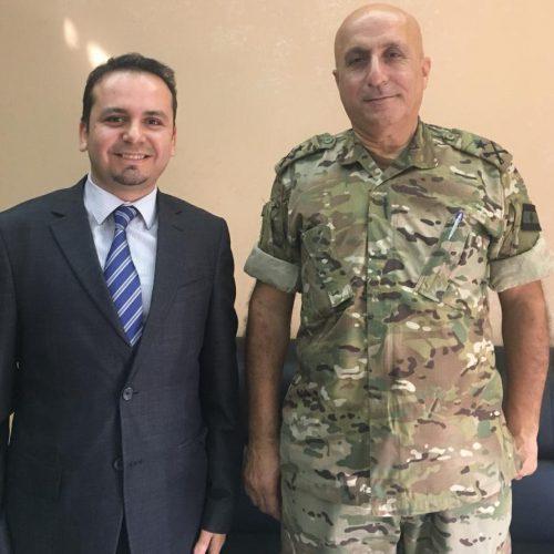 الدكتور حسن تاج الدين يزور قائد منطقة الجنوب العسكرية في الجيش اللبناني العميد الركن جميل سيقلي