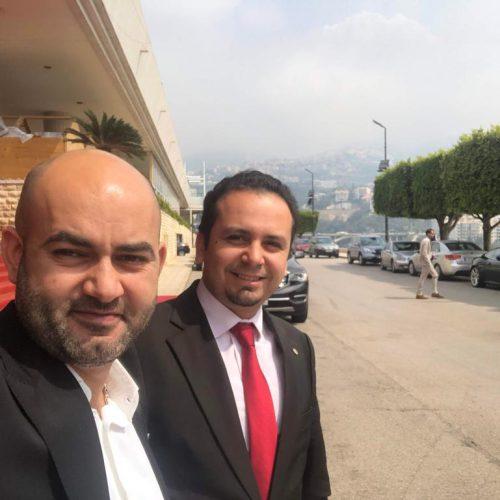 الدكتور حسن تاج الدين محتفلًا بتأسيس نقابة المعلوماتية والتكنولوجيا في لبنان برعاية رئيس الجمهورية